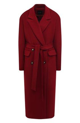 Женское пальто из шерсти и вискозы LESYANEBO бордового цвета, арт. FW20/H-405 | Фото 1