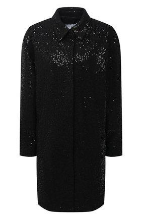 Женское шерстяное пальто SEVEN LAB черного цвета, арт. SPL20-black brilliant | Фото 1