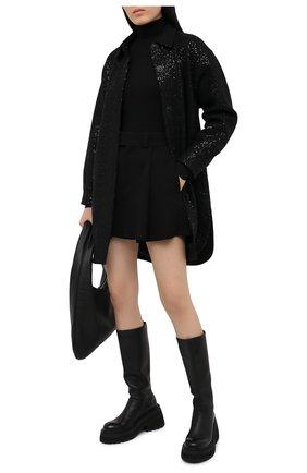 Женское шерстяное пальто SEVEN LAB черного цвета, арт. SPL20-black brilliant | Фото 2