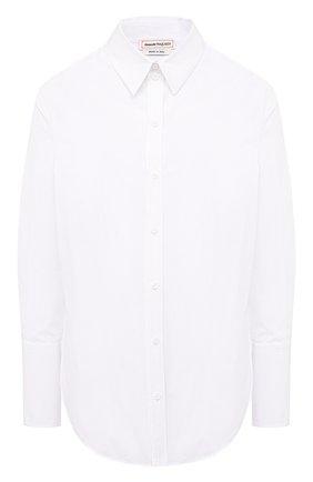Женская хлопковая рубашка ALEXANDER MCQUEEN белого цвета, арт. 584781/QAAAD | Фото 1