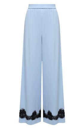 Женские шелковые брюки DOLCE & GABBANA голубого цвета, арт. FTBX6T/FUABF | Фото 1