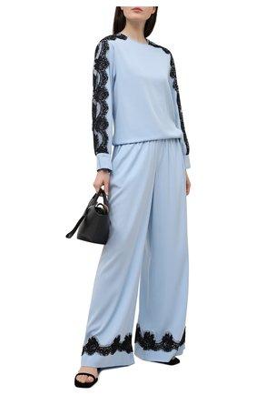Женские шелковые брюки DOLCE & GABBANA голубого цвета, арт. FTBX6T/FUABF | Фото 2