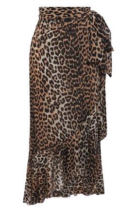 Женская юбка GANNI коричневого цвета, арт. T2701 | Фото 1