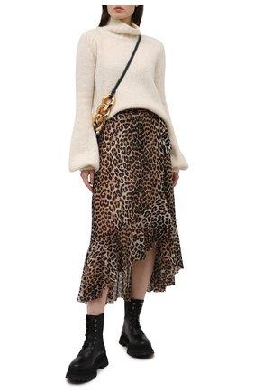 Женская юбка GANNI коричневого цвета, арт. T2701 | Фото 2