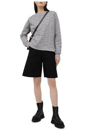 Женский свитшот GANNI серого цвета, арт. T2682 | Фото 2