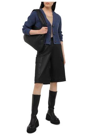 Женский шерстяной кардиган GANNI синего цвета, арт. K1475 | Фото 2