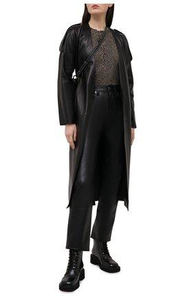 Женский пуловер из вискозы GANNI коричневого цвета, арт. K1465 | Фото 2