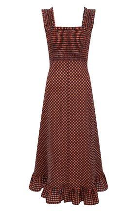 Женское платье GANNI оранжевого цвета, арт. F5763 | Фото 1