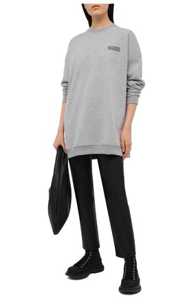 Женский свитшот GANNI серого цвета, арт. T2771 | Фото 2