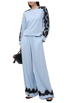 Женская шелковая блузка DOLCE & GABBANA голубого цвета, арт. F74V0T/FUABF | Фото 2