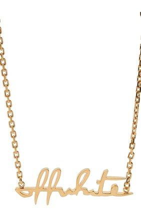 Женское колье OFF-WHITE золотого цвета, арт. 0W0B026R21MET0017600 | Фото 2