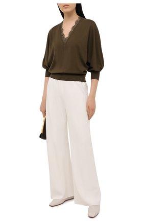 Женский шерстяной пуловер CHLOÉ хаки цвета, арт. CHC21SMP82520 | Фото 2