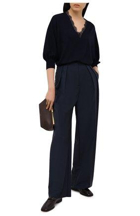 Женский шерстяной пуловер CHLOÉ темно-синего цвета, арт. CHC21SMP82520 | Фото 2