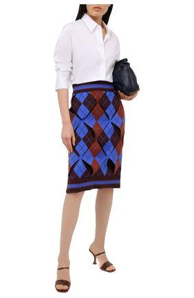 Женская юбка BURBERRY темно-синего цвета, арт. 8037373 | Фото 2