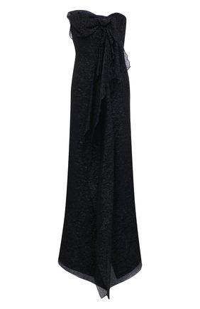 Женское шелковое платье ROLAND MOURET темно-синего цвета, арт. SS21/S2216/F0432 | Фото 1