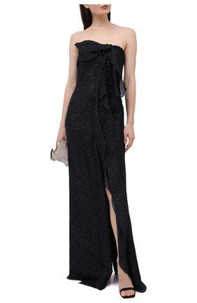 Женское шелковое платье ROLAND MOURET темно-синего цвета, арт. SS21/S2216/F0432 | Фото 2