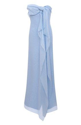 Женское шелковое платье ROLAND MOURET голубого цвета, арт. SS21/S2216/F0432   Фото 1