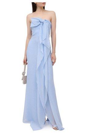 Женское шелковое платье ROLAND MOURET голубого цвета, арт. SS21/S2216/F0432 | Фото 2