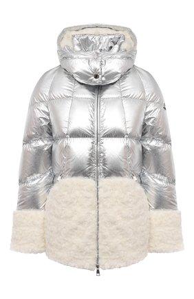 Женский пуховая куртка MONCLER серебряного цвета, арт. G1-093-1A53U-10-53A48 | Фото 1