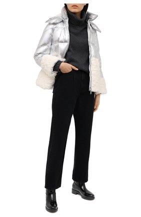 Женский пуховая куртка MONCLER серебряного цвета, арт. G1-093-1A53U-10-53A48 | Фото 2