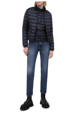 Женский пуховая куртка MONCLER темно-синего цвета, арт. G1-093-1A101-00-53048 | Фото 2