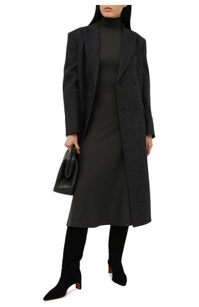 Женские замшевые сапоги SANTONI черного цвета, арт. WSFN59307HA2NMRVN01   Фото 2