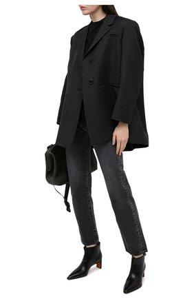 Женские кожаные ботильоны SANTONI черного цвета, арт. WTFN59359HA2NBGNN01 | Фото 2