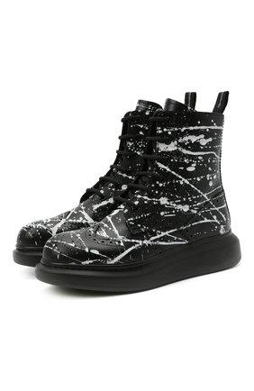 Женские кожаные ботинки ALEXANDER MCQUEEN черного цвета, арт. 650800/WHFL9 | Фото 1