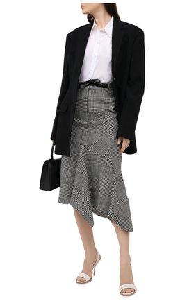 Женские кожаные босоножки ALEXANDER MCQUEEN белого цвета, арт. 651808/WHS4I | Фото 2