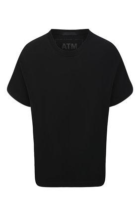 Женская хлопковая футболка ATM ANTHONY THOMAS MELILLO черного цвета, арт. AW1321-GAB | Фото 1