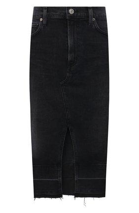 Женская джинсовая юбка CITIZENS OF HUMANITY серого цвета, арт. 3154-1146 | Фото 1