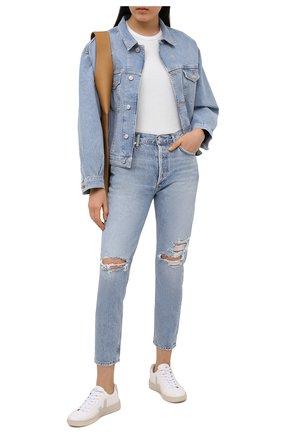 Женские джинсы AGOLDE синего цвета, арт. A045E-1139   Фото 2