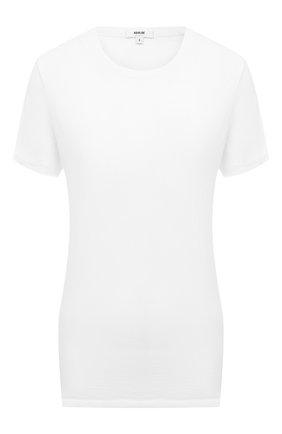 Женская хлопковая футболка AGOLDE белого цвета, арт. A7047 | Фото 1