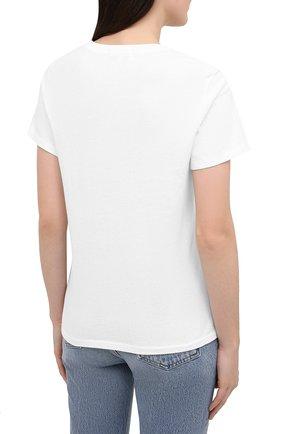 Женская хлопковая футболка AGOLDE белого цвета, арт. A7047 | Фото 4