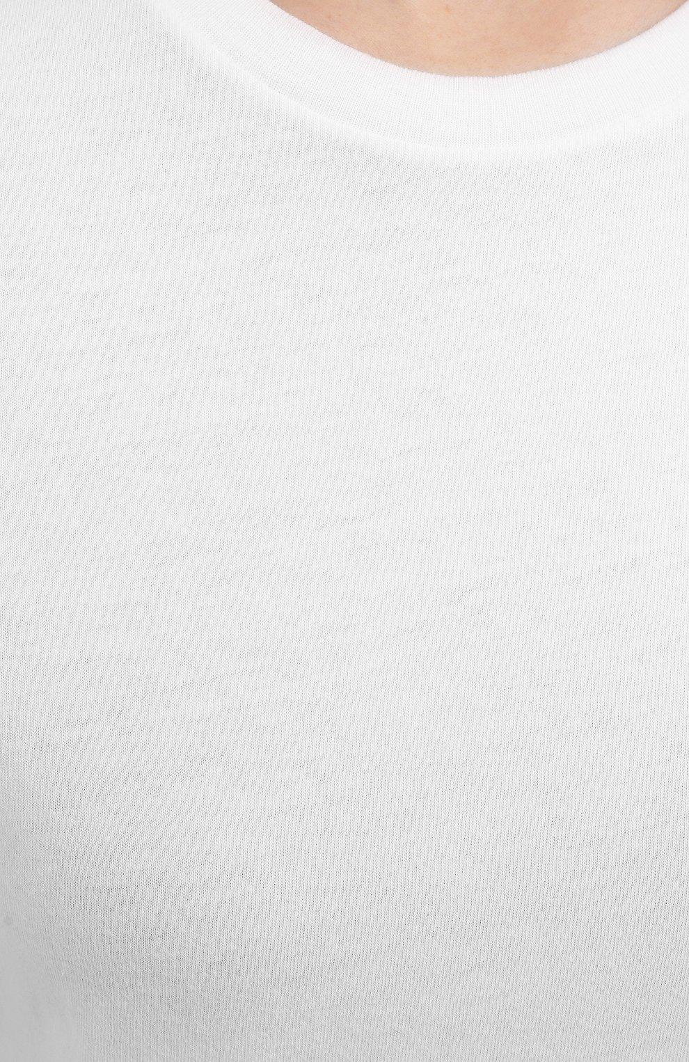 Женская хлопковая футболка AGOLDE белого цвета, арт. A7047 | Фото 5