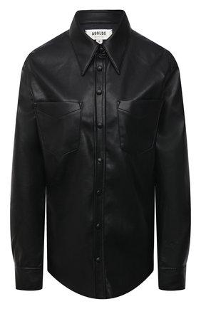 Женская рубашка из экокожи AGOLDE черного цвета, арт. A7060-1287 | Фото 1