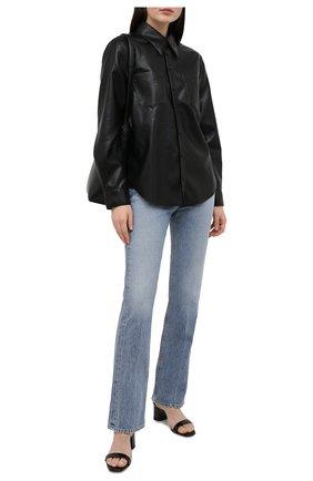 Женская рубашка из экокожи AGOLDE черного цвета, арт. A7060-1287 | Фото 2