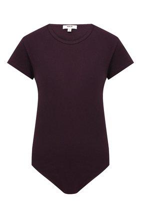 Женское хлопковое боди AGOLDE бордового цвета, арт. A7063-1272   Фото 1