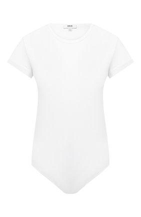 Женское хлопковое боди AGOLDE белого цвета, арт. A7063-1272 | Фото 1