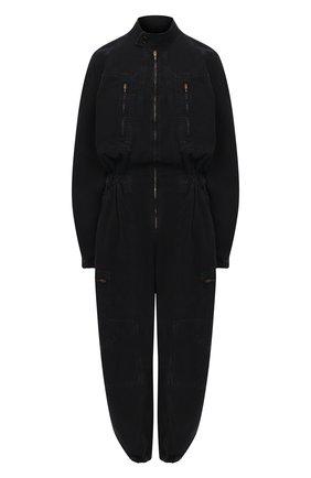 Женский джинсовый комбинезон AGOLDE черного цвета, арт. A8019-1001 | Фото 1
