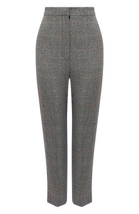 Женские шерстяные брюки ALEXANDER MCQUEEN серого цвета, арт. 649785/QJAB0 | Фото 1