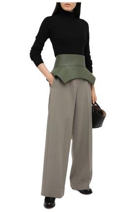 Женский кожаный пояс LOEWE светло-зеленого цвета, арт. S540250X17   Фото 2 (Кросс-КТ: Широкие)