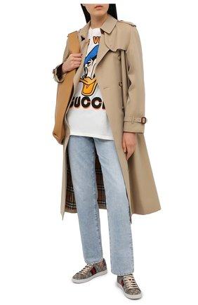 Женская хлопковая футболка disney x gucci GUCCI белого цвета, арт. 615044/XJDBJ | Фото 2