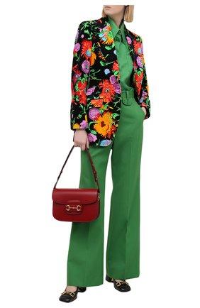 Женские брюки GUCCI зеленого цвета, арт. 643346/ZAFU9 | Фото 2