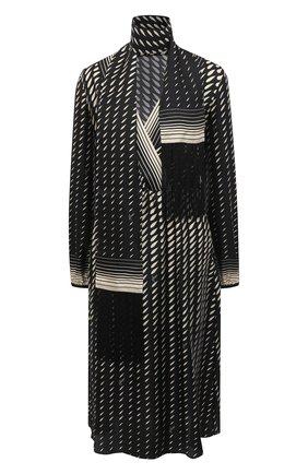 Женское шелковое платье GUCCI черного цвета, арт. 643440/ZAGHV | Фото 1