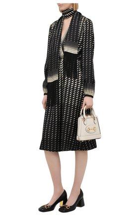 Женское шелковое платье GUCCI черного цвета, арт. 643440/ZAGHV | Фото 2