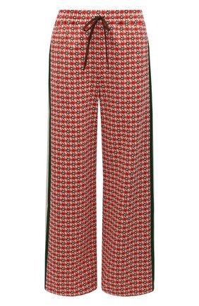 Женские брюки GUCCI красного цвета, арт. 644627/XJC23   Фото 1