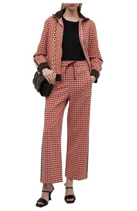 Женские брюки GUCCI красного цвета, арт. 644627/XJC23   Фото 2