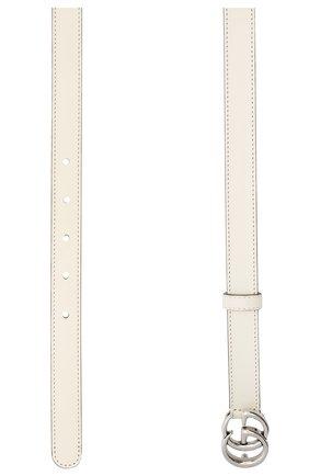 Женский кожаный ремень GUCCI белого цвета, арт. 409417/0YA0P | Фото 2