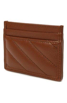 Женский кожаный футляр для кредитных карт GUCCI коричневого цвета, арт. 443127/00LFT | Фото 2